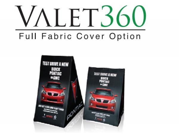 Valet -  A-frame with full image fabric graphic covering all four sides