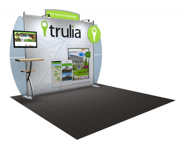 VK-1223 Portable Hybrid Trade Show Exhibit -- Convex Wings
