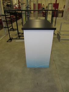 Modular Laminate LT-116 Counter with Vinyl Graphics, Locking Storage, and Internal Shelving